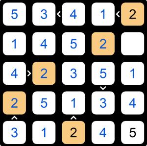 Puzzle Page Futoshiki January 14 2020 Answers